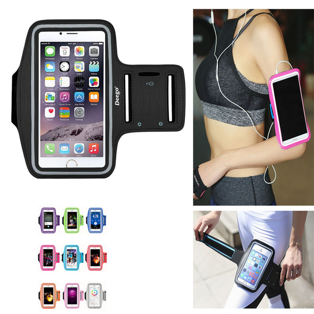 2018 New Running Bags Men Women Armbands Touch Screen Cell Phone Arms Band Phone Case Sports Accessories for 7 Plus Smartphone