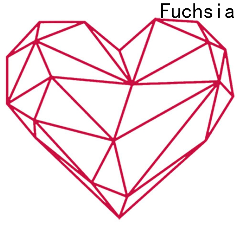 Geometric Heart Romantic Living Rooms Poster Wall Sticker For Home ...
