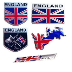 Pegatina de aluminio 3D con emblema de letra de Inglaterra, pegatina para coche, bandera británica, union jack nation, estilo de coche para subaru Volvo ford skoda