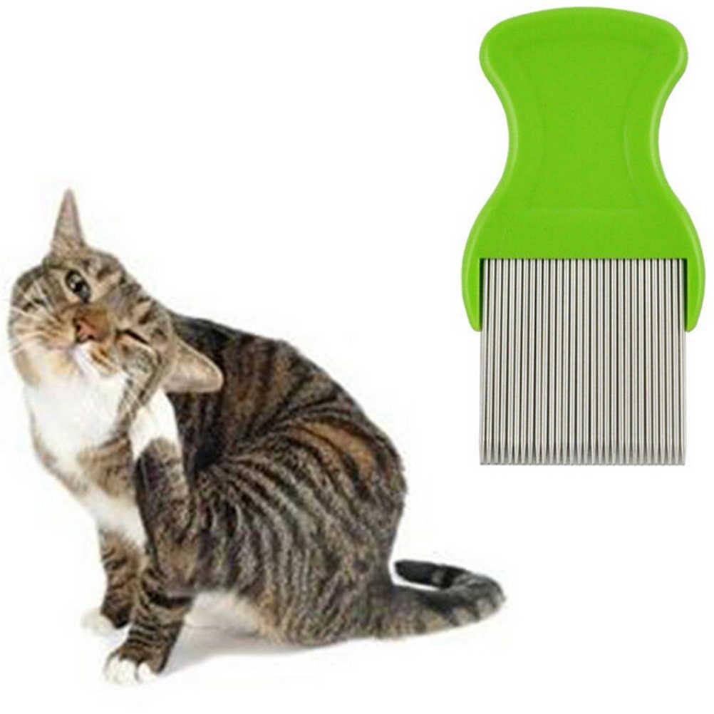 스테인레스 스틸 개 고양이 애완 동물 빗 손질 브러쉬 Cheopis Cootie Anoplura 벼룩 빗 빗 무작위 색상