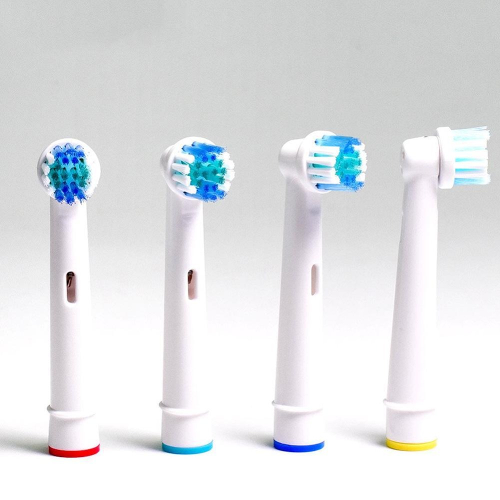 4Pcs/Lot Replaceable Electric Toothbrush Brushes Dental Soft Bristle Vitality Dual Clean Hygiene Care For Oral B Nozzles image