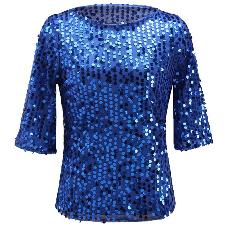 JXYSY TREND Store summer t-shirts for woman s shirts autumn top and tees round neck half sleeve sequined fashion syle M L XL XXL 2017 new arrival