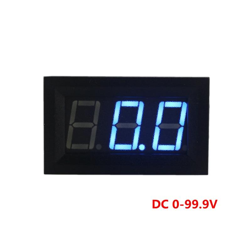 High Accuracy DC 100V Digital Voltmeter Volt Panel Guage DC 0-30V Power Supply 0.56 Blue LED Display