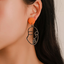цена на Trendy Abstract Exaggerated Drop Earrings Creative Funny Person Face Dangle Earrings Women Girls Fashion Earrings Jewelry