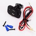 Carro LEVOU Voltímetro Com 4.2A Dual USB Carregador Adaptador De Alimentação 12 V 24 V À Prova D' Água Da Motocicleta Barco Caminhão Carregadores de Tomada 60 CM Cabo
