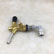 Adjustable Beer Tap& Stainless Steel Liquid Ball Lock Home Brew Keg Tap Beverage Dispenser Polished Faucet