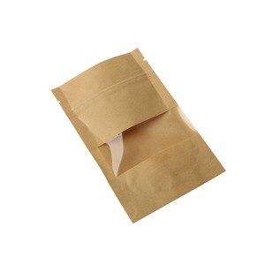 Image 4 - 10pcs חום קראפט נייר מתנות סוכריות שקיות חתונה אריזת תיק למחזור מזון לחם מסיבת קניות שקיות בוטיק Zip מנעול
