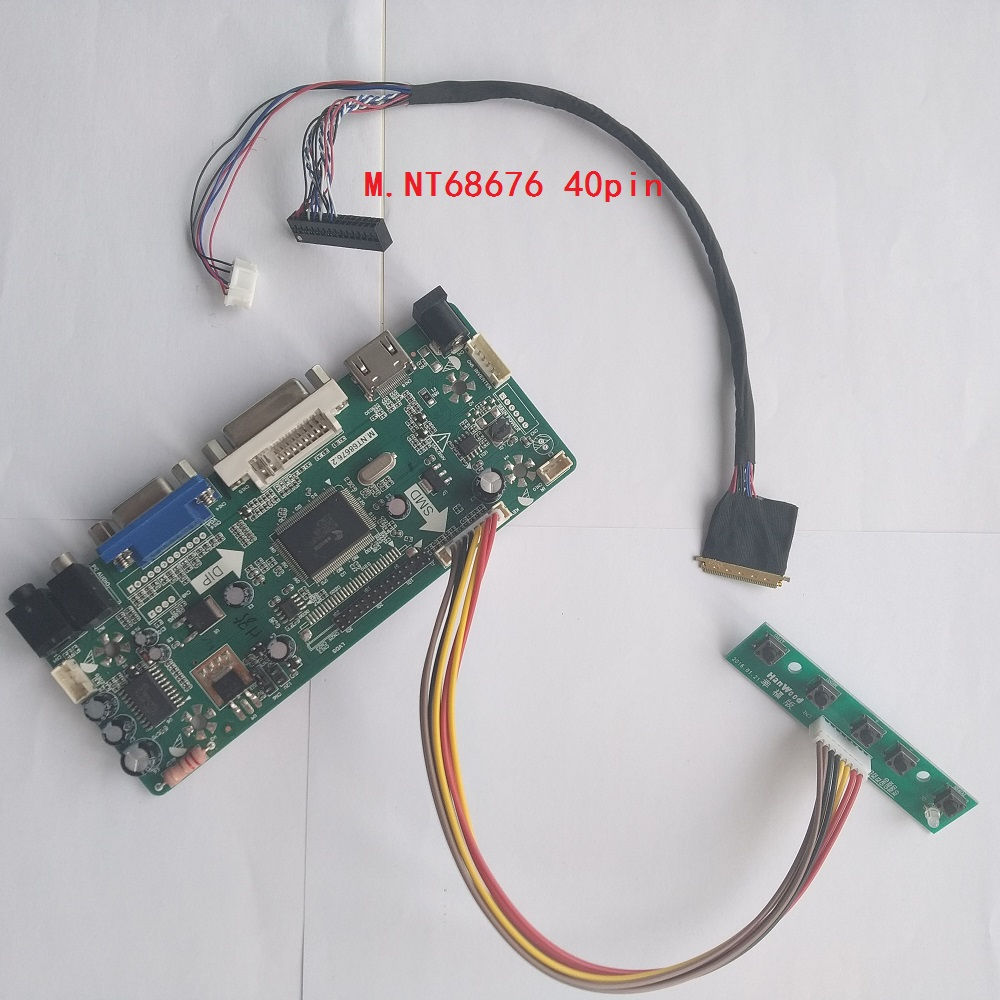 Kit For LP140WH2-TLE3 Audio Card DIY DVI Panel Screen Monitor LED LCD HDMI VGA Controller Board 40pin LVDS 1366*768 14