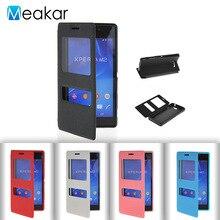 Двойное окно из искусственной кожи 4.8for Sony Xperia M2 чехол для Sony Xperia M2 aqua сотовый телефон Обложка чехол