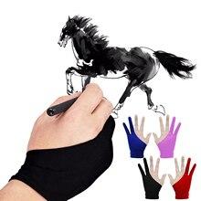 2 пары = 4 шт Размер s m перчатки для художника 2-пальцевые перчатки для рисования противообрастающие для графического планшета ручка для рисования дисплей правая левая рука