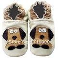Envío gratis 8 par/lote garantizado 100% suela blanda zapatos de bebé de cuero bebé primer caminante dr0007-45