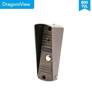 "Image 5 - Dragonsview 7 ""วิดีโอ Intercom Doorbell โทรศัพท์ LCD สีโลหะกลางแจ้งสนับสนุนล็อคปุ่ม (ไม่รวม) video Call"