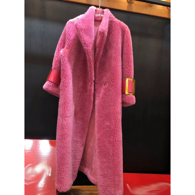 2018 Warm Thick Wool Clothing Female Autumn Winter Natural Wool Outwear Quality Wool Jacket Extra Long Real Wool Sheep Coat