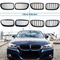 Carbon Fiber/Black Front Bumper Racing Grills Kidney Grilles For BMW E90 E91 3 Series 2008 2011 M Power Performance Accessories