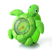 Newest 3D Children Cartoon Watch Cute Animal Frogs Children Clock Baby kid Quartz Wrist Watches for Girls Boys Gift