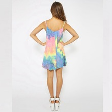 FANALA Spaghetti Strap Dress Fashion Summer Beach Girl Dress O Neck Sleeveless Print Floral Vestidos Women Sexy Mini Beach Dress