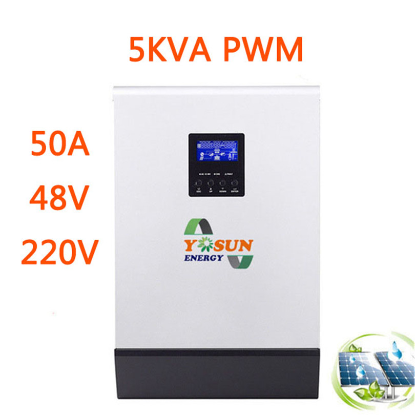 PWM Solaire Onduleur 10/15/20KVA 48 v à 220 v 2/3/4 pcs Parallèle pur Onduleur À Onde Sinusoïdale DC 50 hz Solaire Chargeur Batterie Inverseur