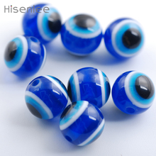 Hisenlee 100 Pcs/ Bag Blue 12mm New fashion circular evil Eye Beads Space DIY Bracelet / jewelry Making Beads