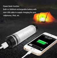 Portable IP68 Waterproof Rechargeable LED Tent Camping Light Multi Functional Outdoor Travel Emergency Power Bank Lantern
