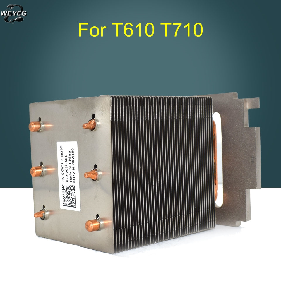 0KW180 KW180 for PowerEdge T610, T710 Server CPU / Processor Cooling Heatsink 1u server computer copper radiator cooler cooling heatsink for intel lga 2011 active cooling