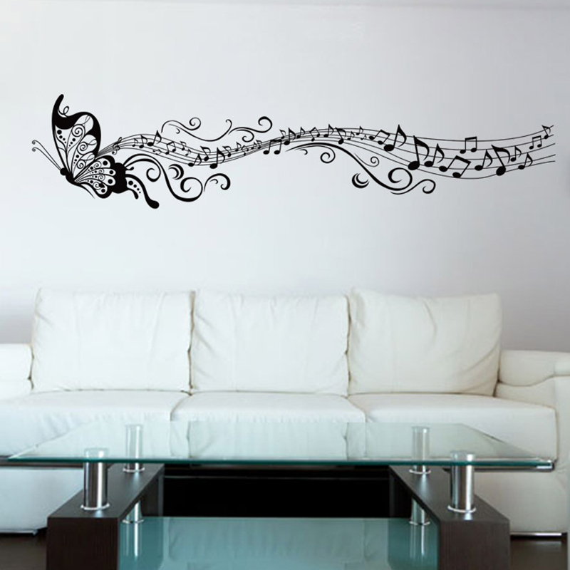 online buy wholesale music wallpaper from china music wallstickers folies musical notes wall stickers