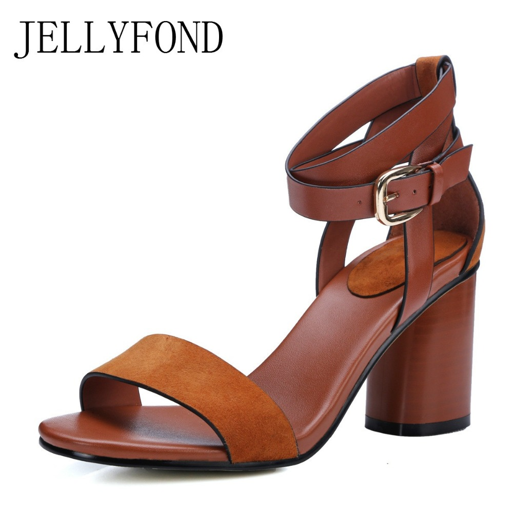 JELLYFOND Brand Suede Women Gladiator Sandals 2017 Peep Toe Sexy High Heels Ankle Cross Tied Designer Summer Shoes Woman  rome new sexy high heels wedding shoes woman 2017 brand cross tied women luxury retro square toe gladiator sandals women boots