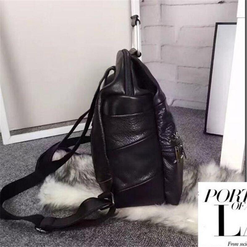 Mode Han Style haute qualité personnalité Rivet étudiant Double sacs à bandoulière Punk multifonction noir voyage femmes sacs à dos - 5