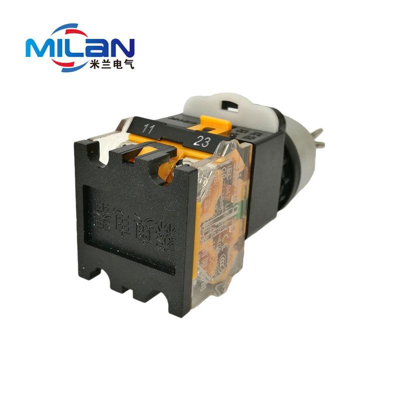 1PCS LA38 11D/203 Quality Sliver Contact Push Button Switch with ...