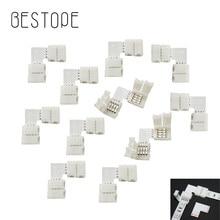 L-form 4 Pin 10mm LED Stecker Streifen zu Streifen 4 Leiter Rechten Winkel Ecke Schnell Splitter Für 5050 2835 3528 RGB led streifen