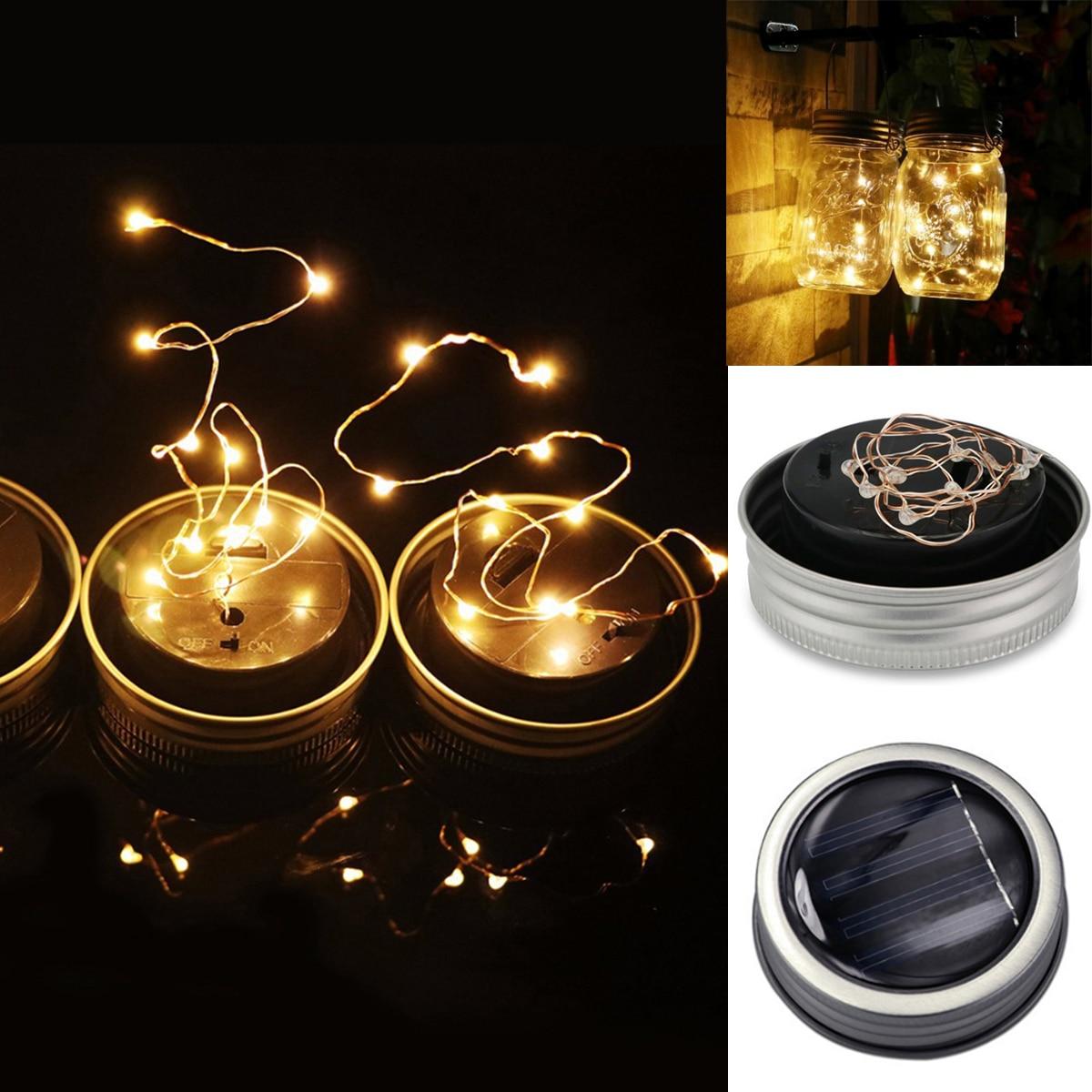 1m 10led Fairy Light Solar Mason Jar