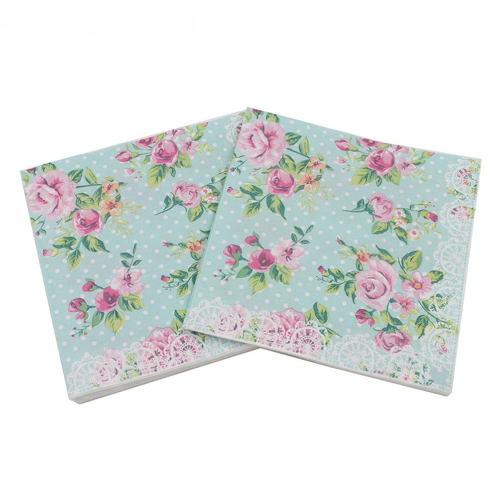 20pcspacklot 4 Types Lunch Paper Napkins Printed Paper Napkin For