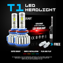 Modifygt T1 H4 led 72W 7200LM 6000K 12v H7 H3 H11 9005 HB3 9006 HB4 headlight car accessories auto light