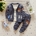 Children's Clothes Set Three Pieces Set Baby Boy And Girl's Clothing Spring Autumn Winter Causual Cloth Cute Bear Head Letter