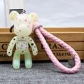 3 unids/set 18 estilos popobe gloomy violencia oso momo trenza bolsa llavero llavero de dibujos animados adornos colgante regalos juguetes para niños muñeca