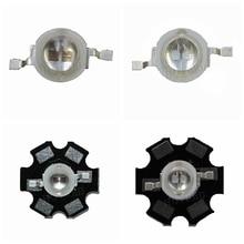 50pcs 3W LED ไดโอด 3W 5W 2 ชิป 3W 5W LED ไดโอด Emitter สีฟ้า 450nm UV ไดโอด 395nm IR 730nm 740nm สูง UV PCB