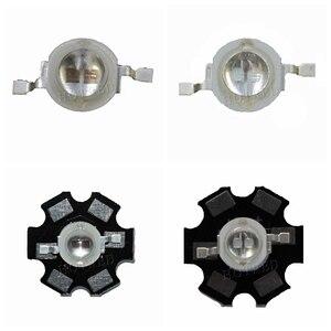 Image 1 - 50pcs 3W Led Diode 3W 5W Light 2 Chips 3W 5W led diode Emitter Blue 450nm UV Diode 395nm IR 730nm 740nm high power UV lamp PCB