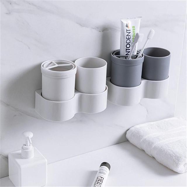 Bathroom Toothbrush Holder Wall Hanging Wash Cup Toothbrush Cup Holder Travel Toothbrush And Toothpaste Storage Box