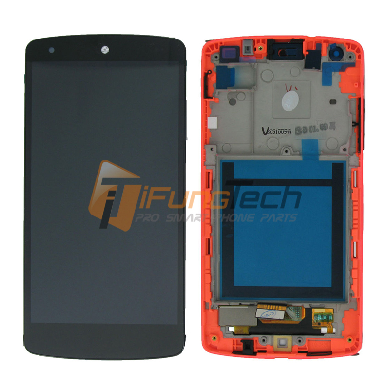 5PCS For LG Google Nexus 5 LCD Display Touch Screen Digitizer Assembly With Frame D820 D821 Replacement Parts new original for lg google nexus 5 d820 d821 lcd display panel with touch screen digitizer full frame assembly 100