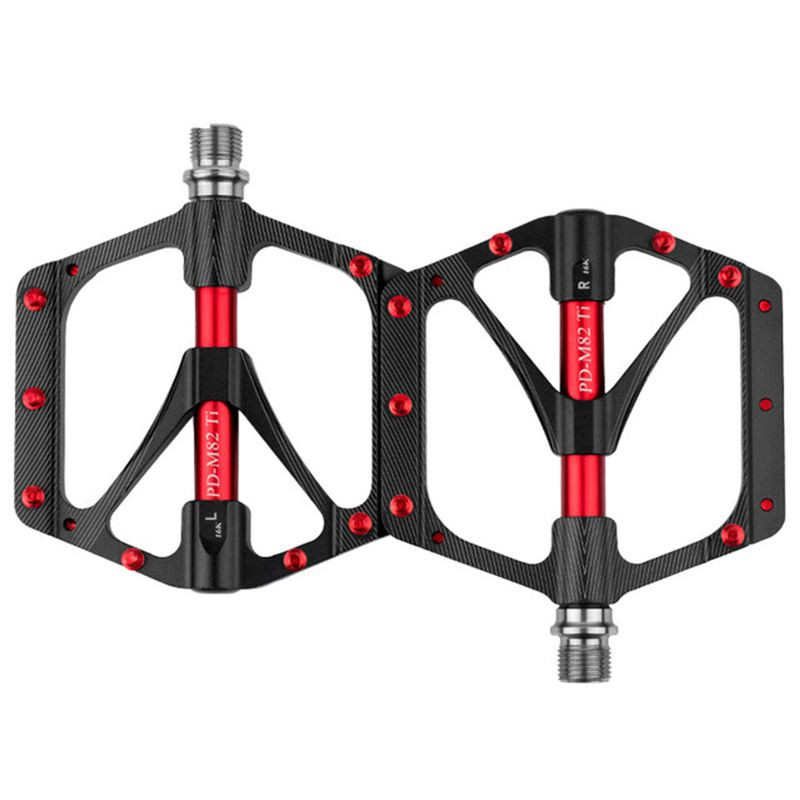 UpperX pédale de bicyclette arbre VTT Pédalier Sport Ultra léger 251g non-glissement grand bloc usure qualité supérieure pédale Vélo Accessoires