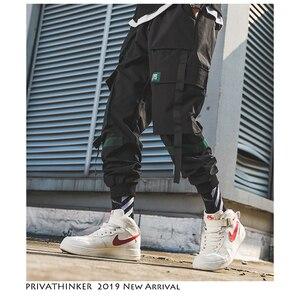 Image 2 - Privathinker hommes Hip Hop ceinture Cargo pantalon 2020 homme Patchwork salopette japonais Streetwear Joggers pantalon hommes design sarouel
