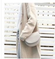 Ретро полукруглая седельная сумка женская сумка Новая мода кожа косой