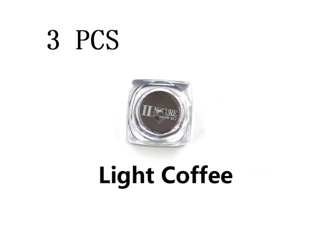 3PCS PCD Light Coffee Paint Professional Eyebrow Micro Tattoo Ink Set Lips Microblading Permanent Makeup Pigment Colorfastness
