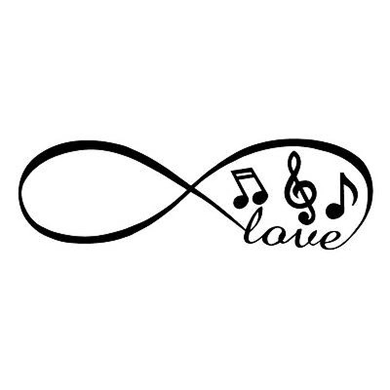 20x6 3cm Infinity Love Music Notes Musical Interesting