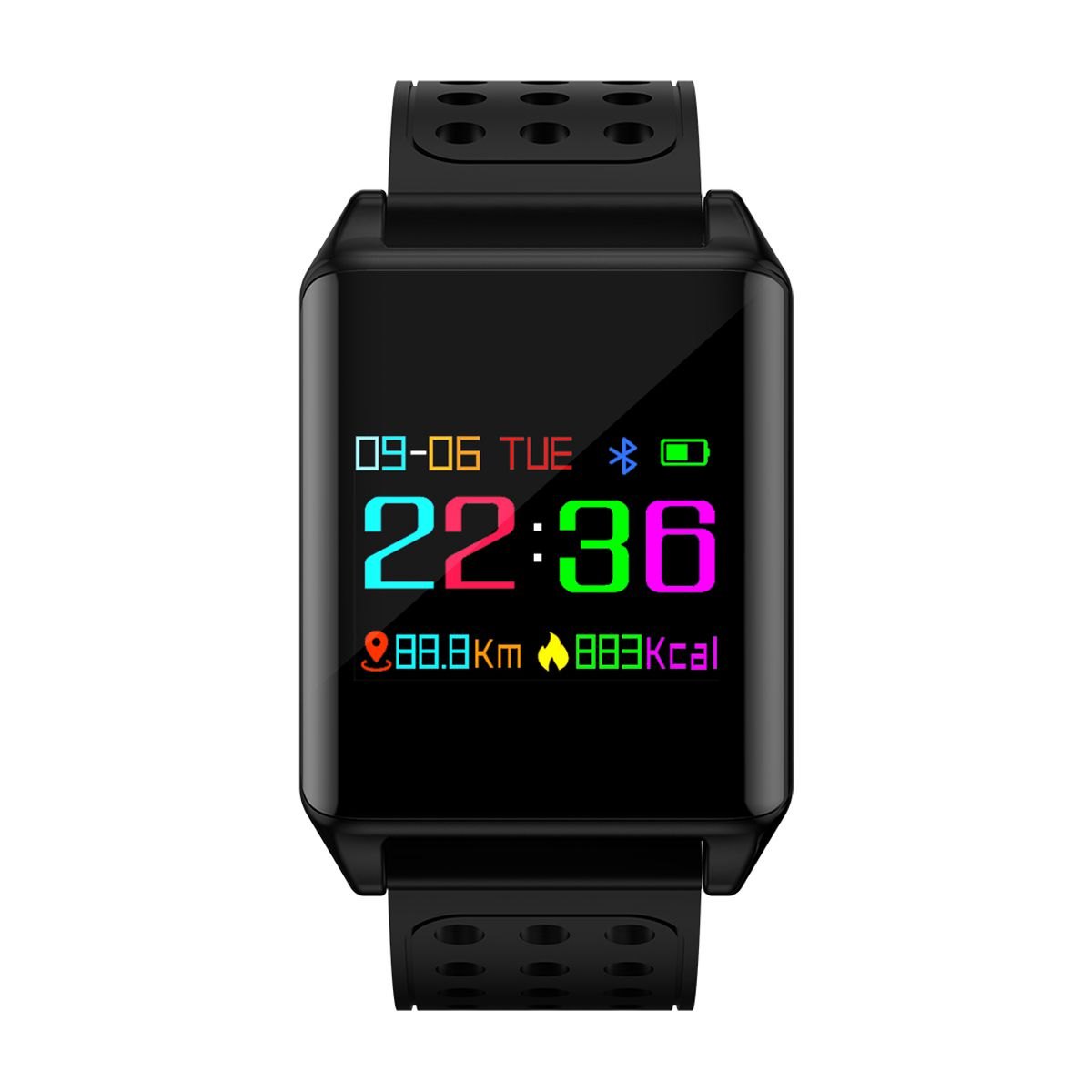 M7 Colorful OLED Screen Sport Smart Band IP67 Waterproof Support Heart Rate Blood Pressure Predometer Smart Watch for Gifts