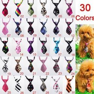 50pcs/lot Pet Dog Neckties Bow tie Mixed 30 New Patterns Polyester Cute Dog Bow Tie Dog Grooming Products
