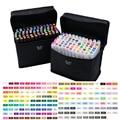 168 cores arte caneta marcadores marcadores da arte esboço copic marcadores touchfive dupla cabeça profissional definido para mangá escola canetas stabilo