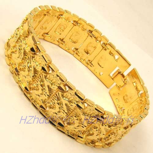Us 16 3 9 3 Inch 21mm 64g Real Men 18k Yellow Gold Plated Bracelet Dragon Solid Filled Gp Watch Band Style Chain Party Gift Wholesale In Chain