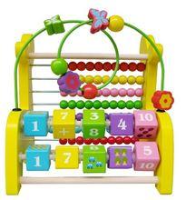 Montessori Enfants Bois de Bande Dessinée Girafe Muti-fonctionnelle Abacus Perle FrameLearning Éducation Préscolaire Formation Brinquedos Juguets