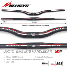 ULLICYC 2019 HOT SALE Newest Mountain Bike Full Carbon Handlebar (Flat/Rise)31.8*580/600/620/640/660/680/700/720/740mm free ship