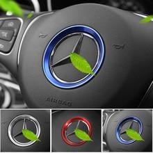 Car sticker steering wheel cover 3D metal for mercedes benz amg w204 cla w203 w211 w205 w124 w210